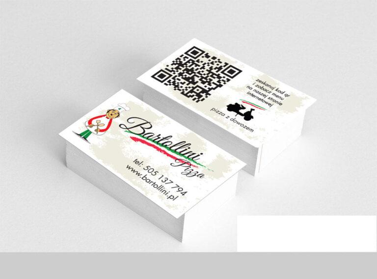 Wizytówki dla pizzerii