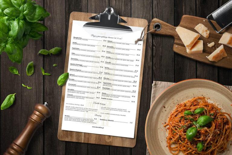 Projekt menu dla pizzerii